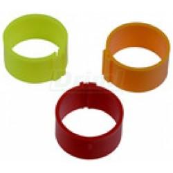 Kroužky zámkové, 25mm žluté...