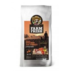 FARM FRESH CHICKEN AND TURKEY ACTIVE/PUPPY GRAIN FREE 15KG