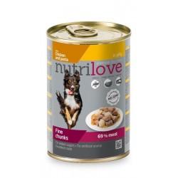 NUTRILOVE pes konz. kousky...